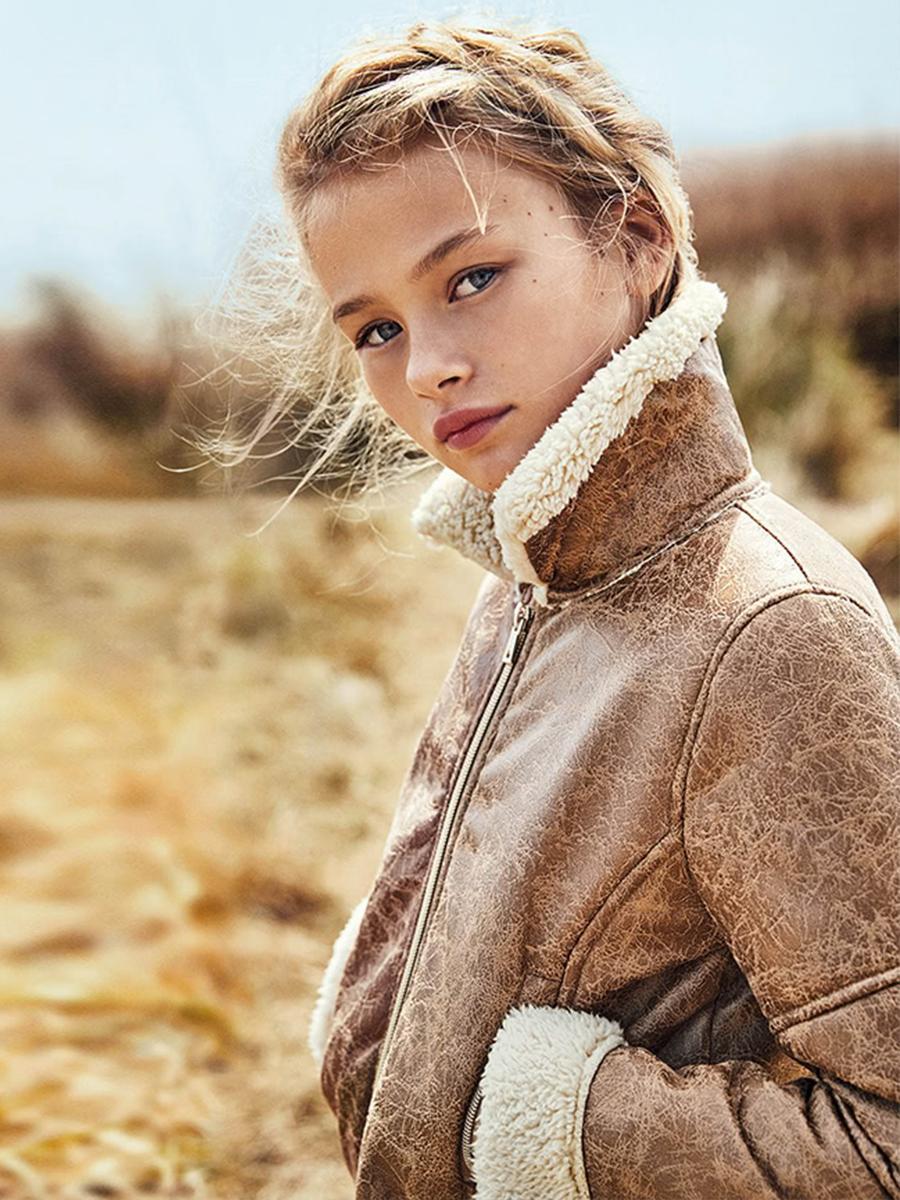 куртка mayoral для девочки, коричневая