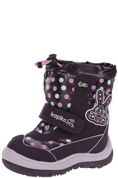Ботинки Kapika Полусапоги для девочки 41143-1 красный, Российская Федерация