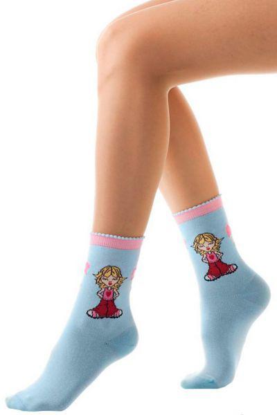Носки для девочки SAKP-1036 голубой Charmante, Китай (КНР)