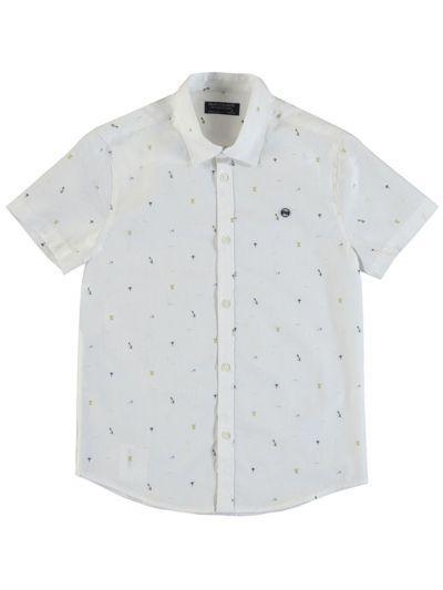 рубашка mayoral для мальчика, белая