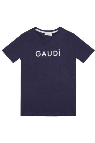 футболка gaudi для мальчика, синяя