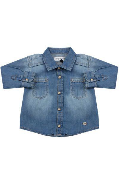 Купить Рубашка, Byblos, Голубой, Хлопок-100%, Мужской
