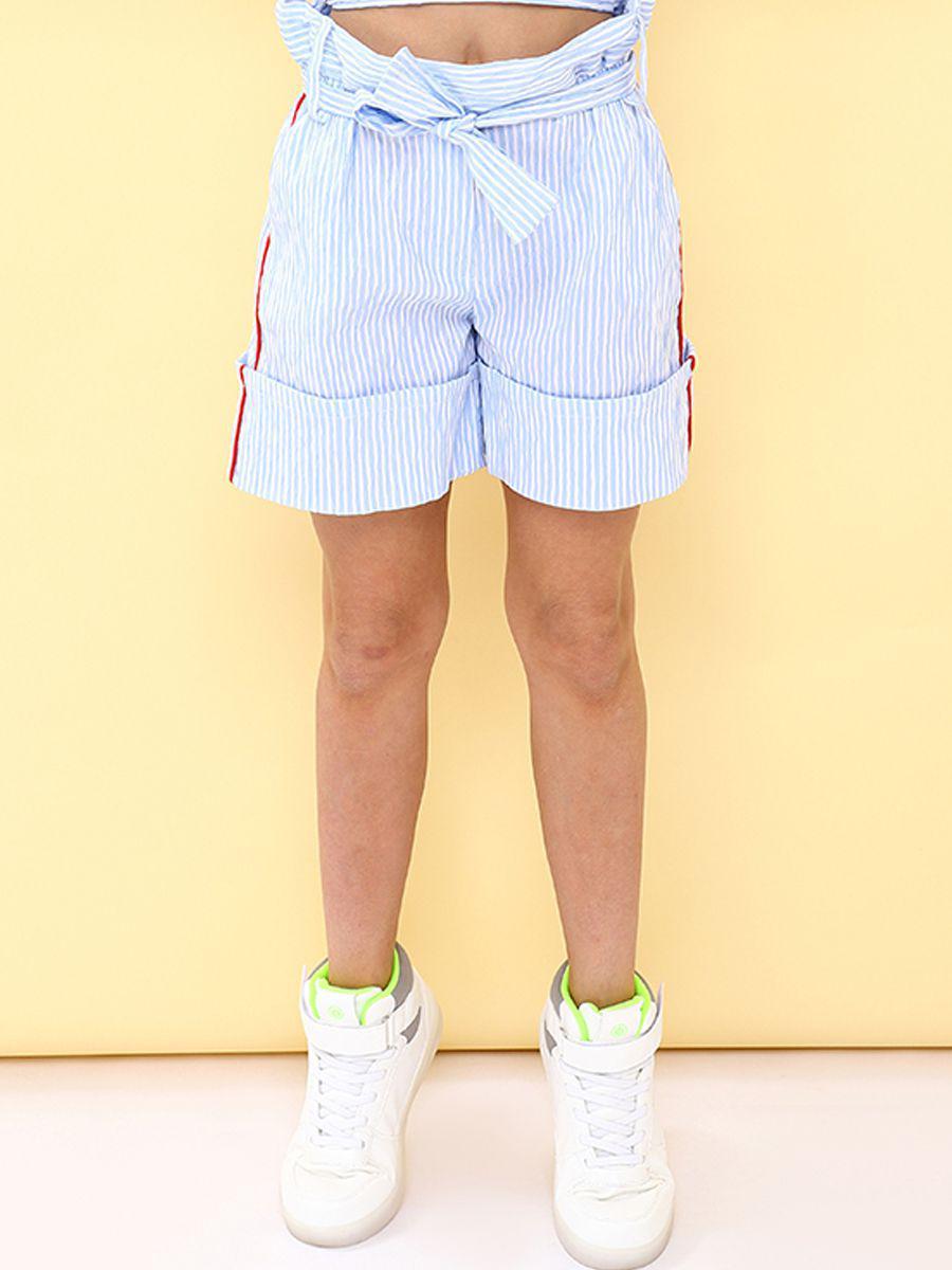 шорты gaialuna для девочки, голубые