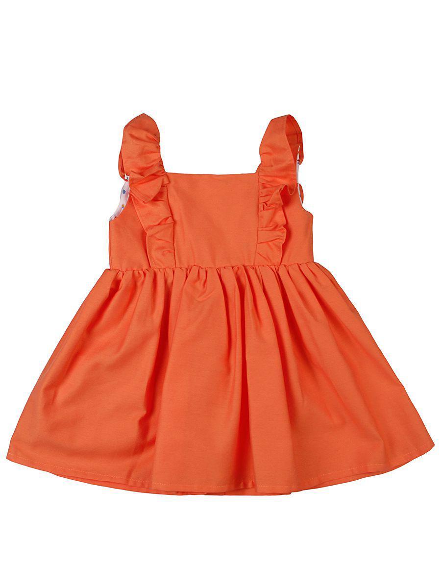 платье y-clu' для девочки, оранжевое