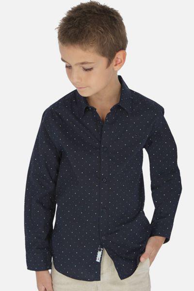 Рубашка, Mayoral, Синий, Хлопок-100%, Мужской  - купить со скидкой