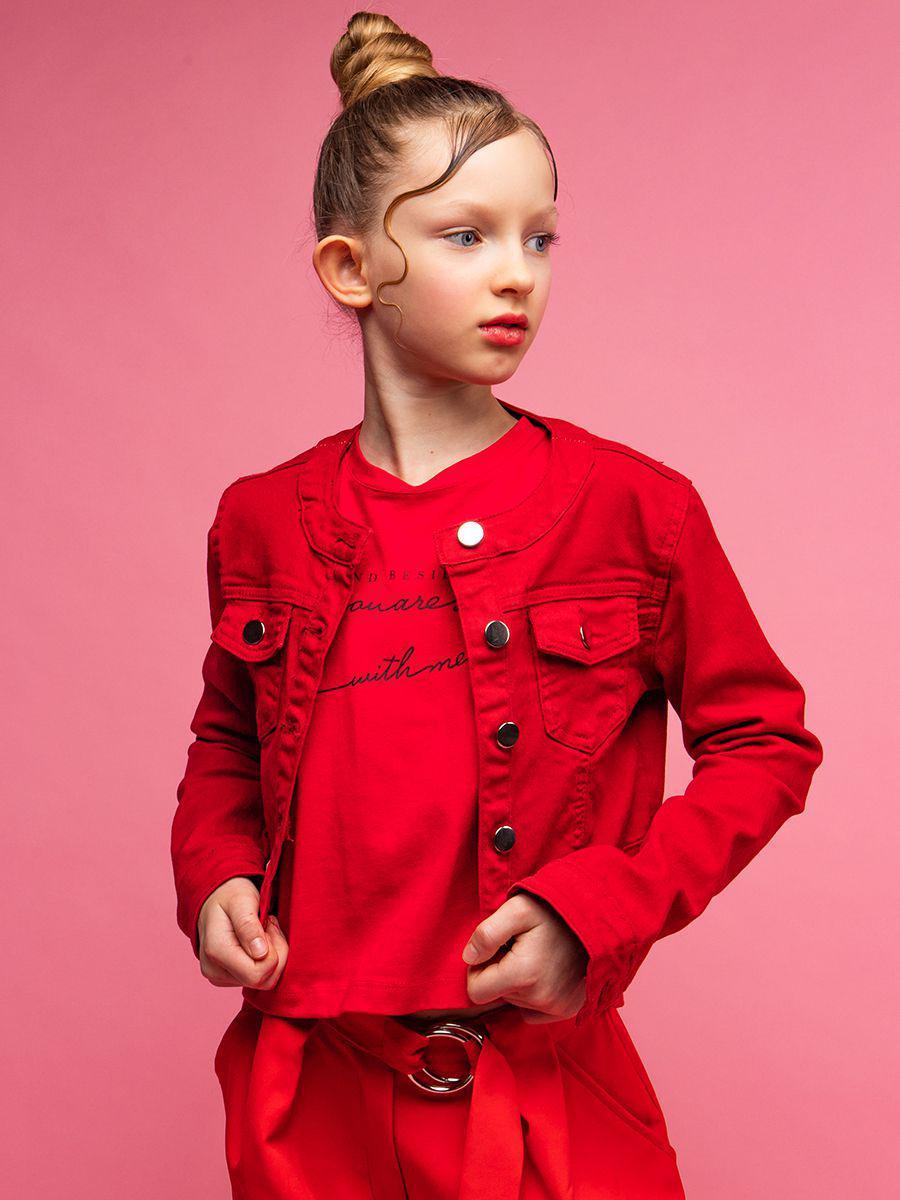 куртка y-clu' для девочки, красная