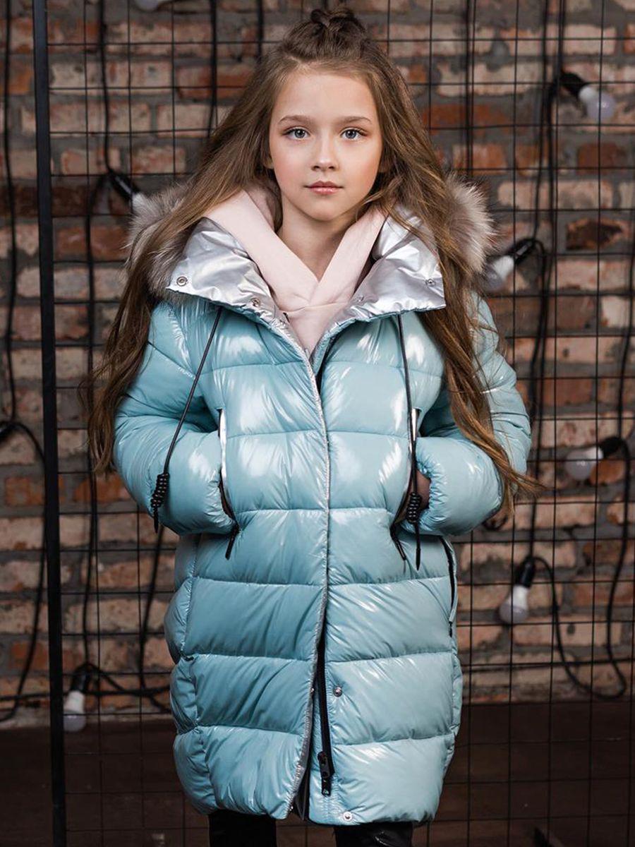Купить Пальто, GnK, Голубой, Полиэстер-100%, Женский