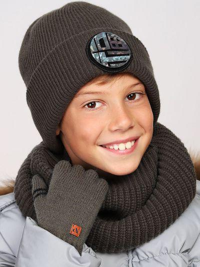 перчатки noble people для мальчика, коричневые