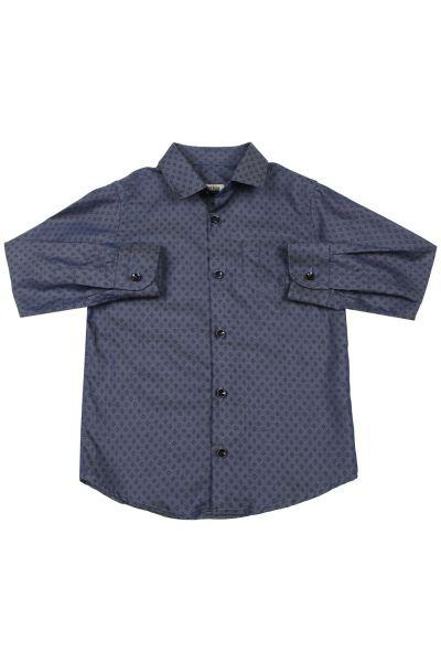 Купить Рубашка, Ronnie Kay, Синий, Хлопок-100%, Мужской