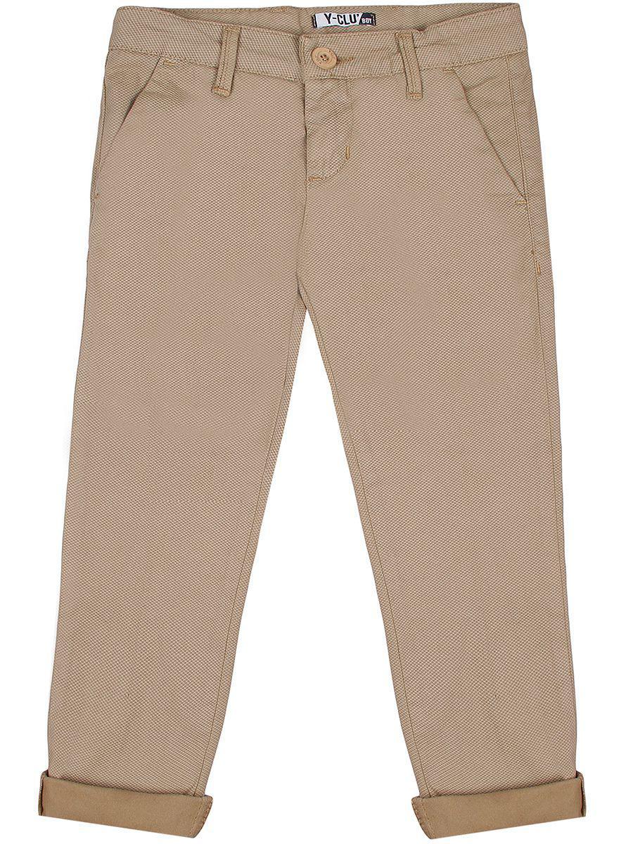 брюки y-clu' для девочки, бежевые