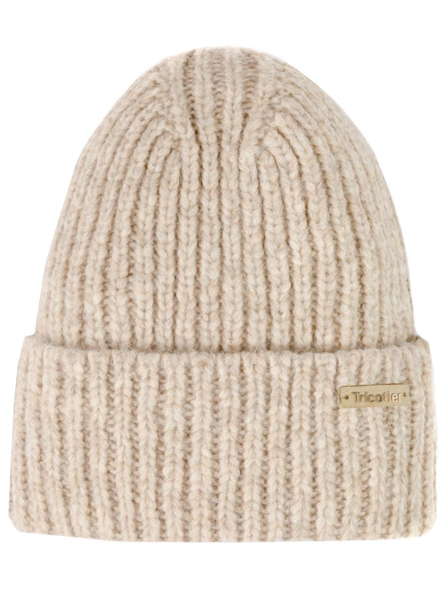 шапка tricotier для девочки, бежевая