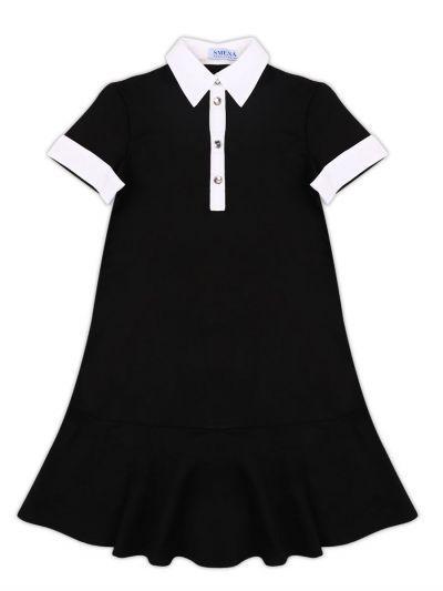 платье смена для девочки, черное