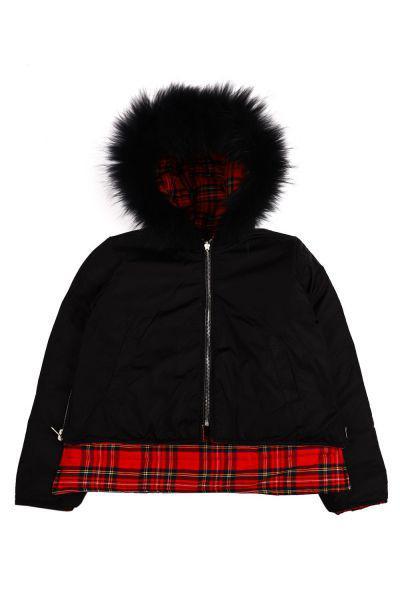 Купить Куртка, Y-clu', Черный, Полиэстер-76%, Район-21%, Эластан-3%, Женский