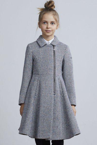 Купить Пальто, Silver Spoon, Разноцветный, Полиэстер-60%, Шерсть-40%, Женский
