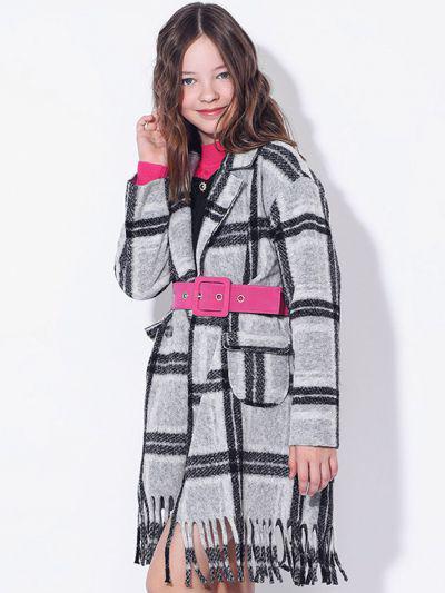 Купить Пальто, To Be Too, Серый, Полиэстер-80%, Шерсть-20%, Женский