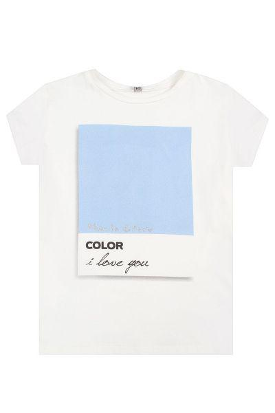 футболка manila grace для девочки, белая