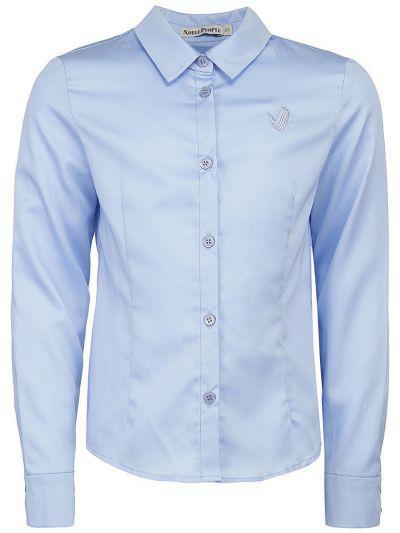блузка noble people для девочки, голубая