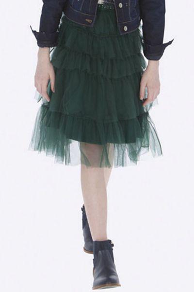 юбка mayoral для девочки, зеленая