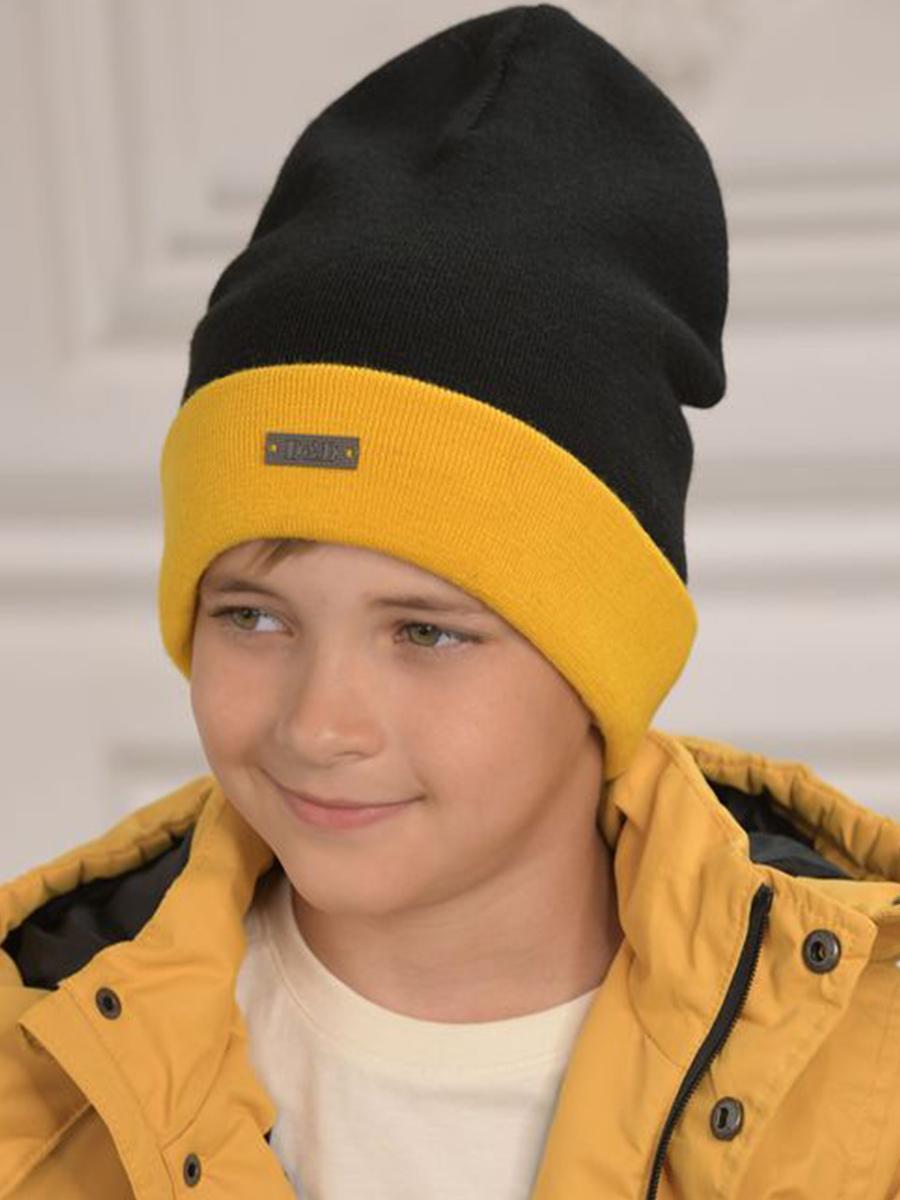 шапка dan&dani для мальчика, черная