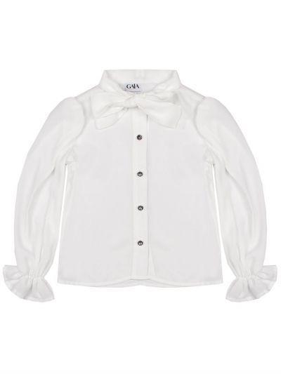 Купить Блуза, Gaialuna, Белый, Полиэстер-100%, Женский