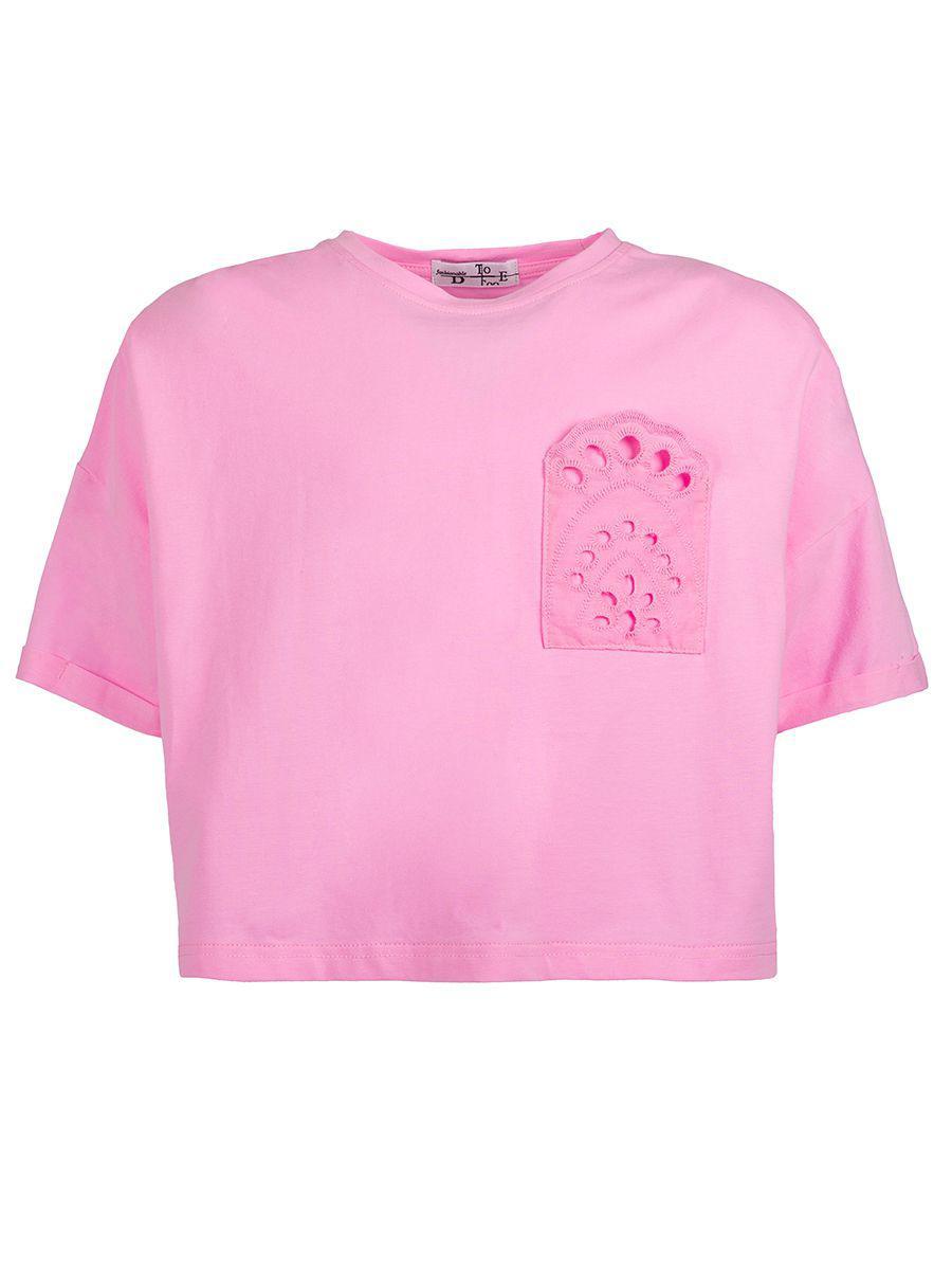 футболка to be too для девочки, розовая
