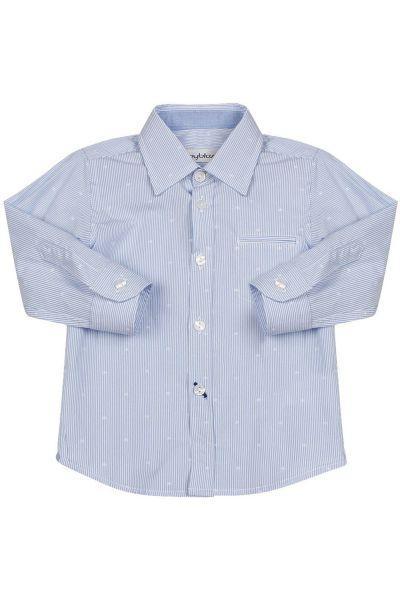 Купить Рубашка, Byblos, Голубой, Хлопок-97%, Эластан-3%, Мужской