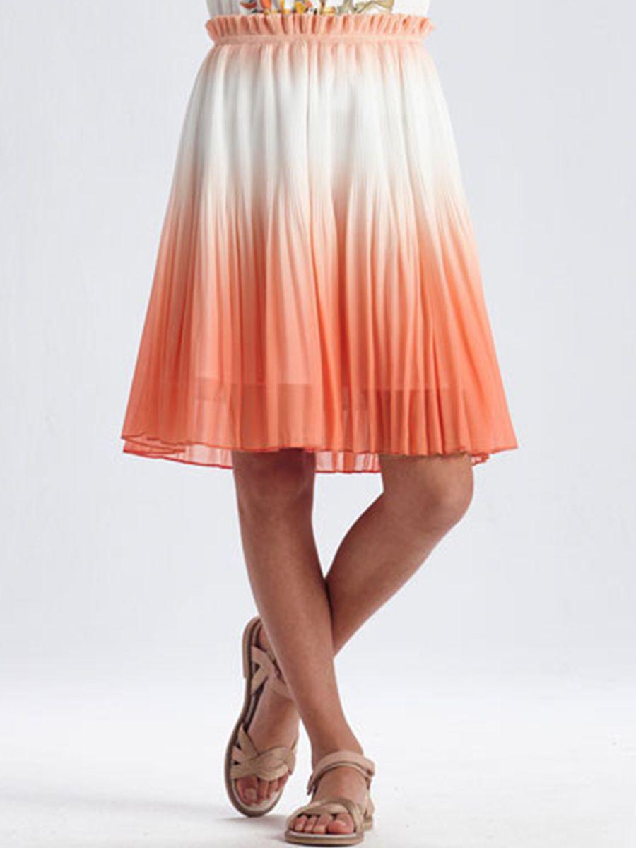 юбка mayoral для девочки, оранжевая