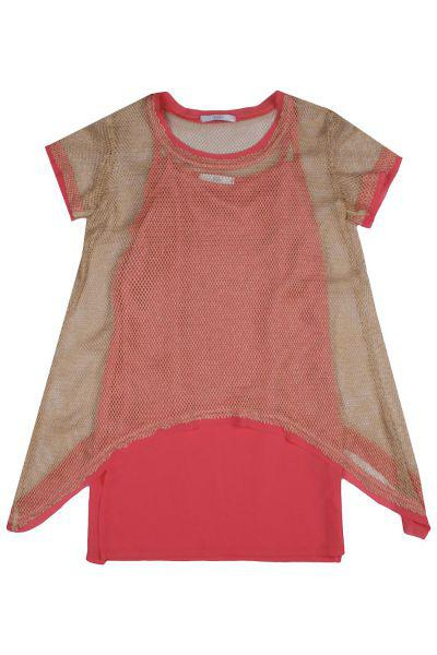 Купить Платье, Y-clu', Красный, Хлопок-95%, Эластан-5%, Женский
