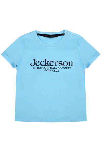 Купить Футболка, Jeckerson, Голубой, Хлопок-100%, Мужской