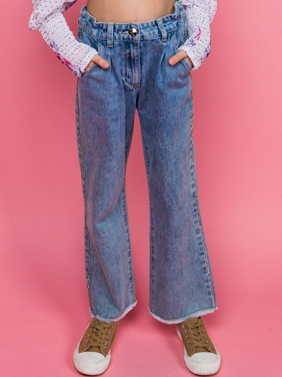 джинсы y-clu' для девочки, синие