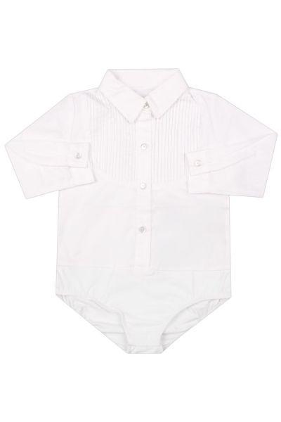 Купить Блуза, To Be Too, Белый, Хлопок-97%, Эластан-3%, Женский