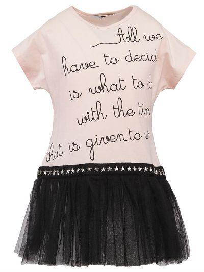 Купить Платье, Y-clu', Розовый, Хлопок-94%, Эластан-6%, Женский