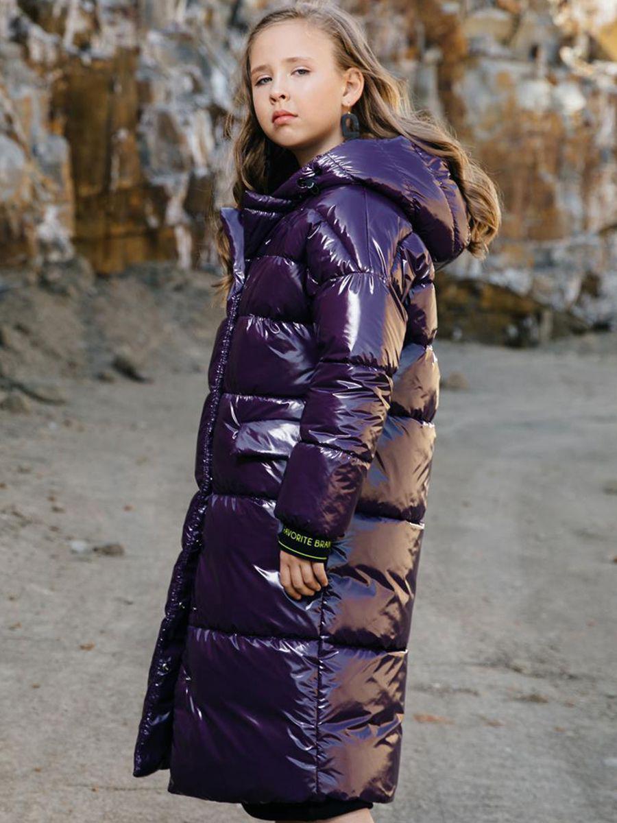 Купить Пальто, GnK, Фиолетовый, Полиэстер-100%, Женский