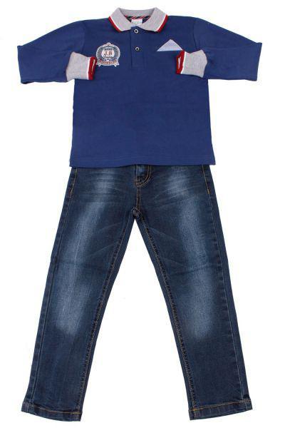 Купить Лонгслив+джинсы, Band, Синий, Хлопок-50%, Полиэстер-45%, Эластан-5%, Мужской