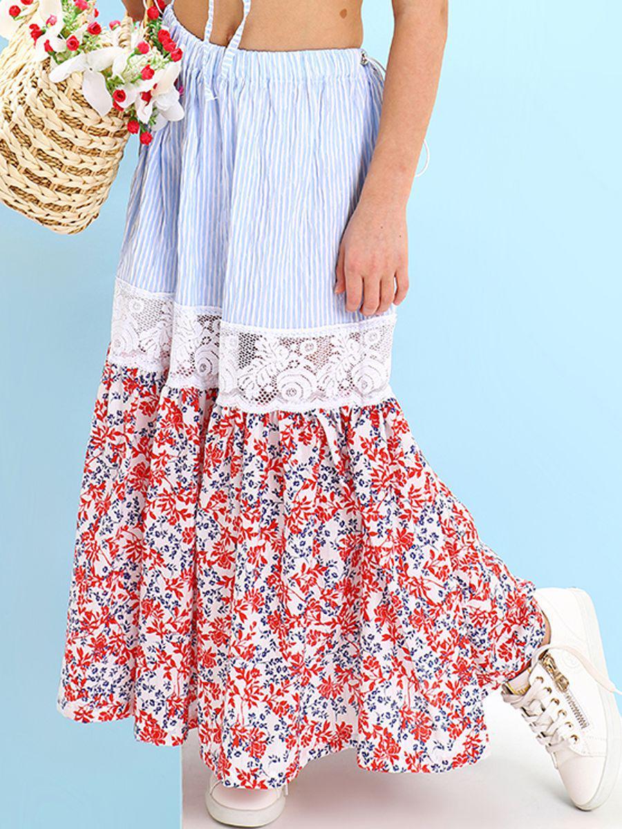 юбка gaialuna для девочки, разноцветная