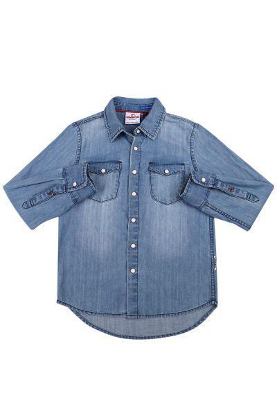 Купить Рубашка, Vingino, Голубой, Хлопок-100%, Мужской