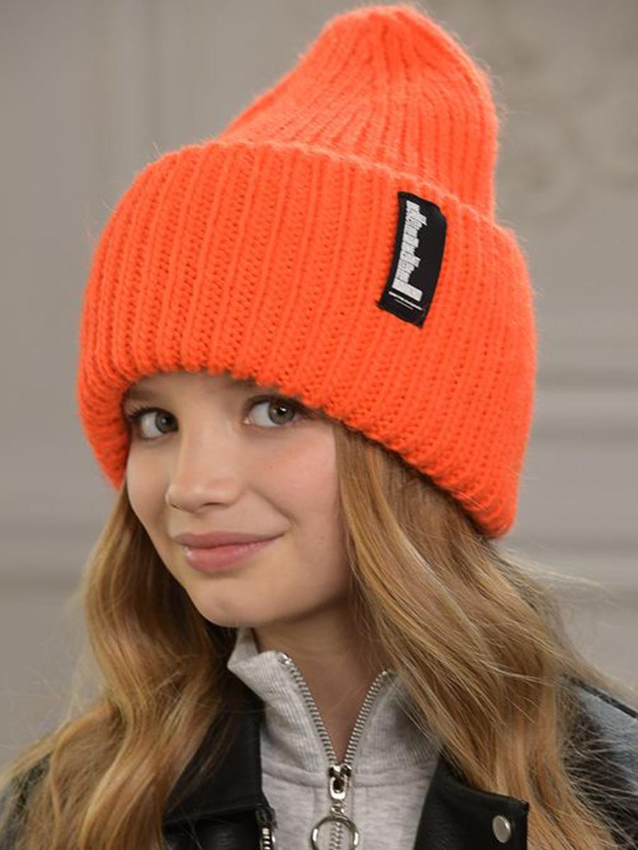шапка dan&dani для мальчика, оранжевая