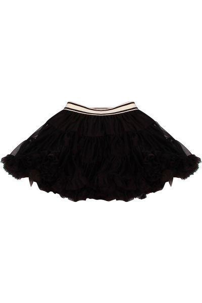 Юбка Gaialuna для девочки GA620427 чёрный, Китай (КНР)