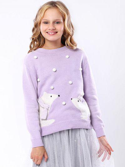 джемпер noble people для девочки, фиолетовый