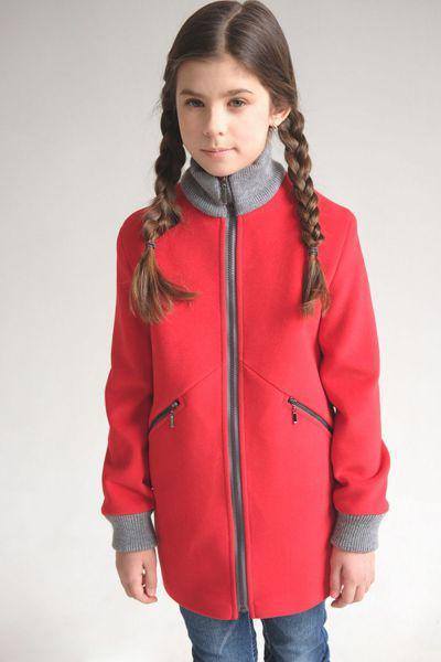Купить Пальто, Mamma Mila, Красный, Полиэстер-65%, Шерсть-35%, Женский