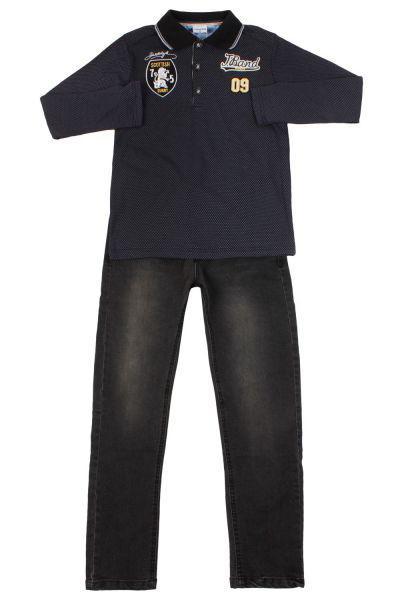 Лонгслив+джинсы, Band, Черный, Хлопок-50%, Полиэстер-45%, Лайкра-5%, Мужской  - купить со скидкой