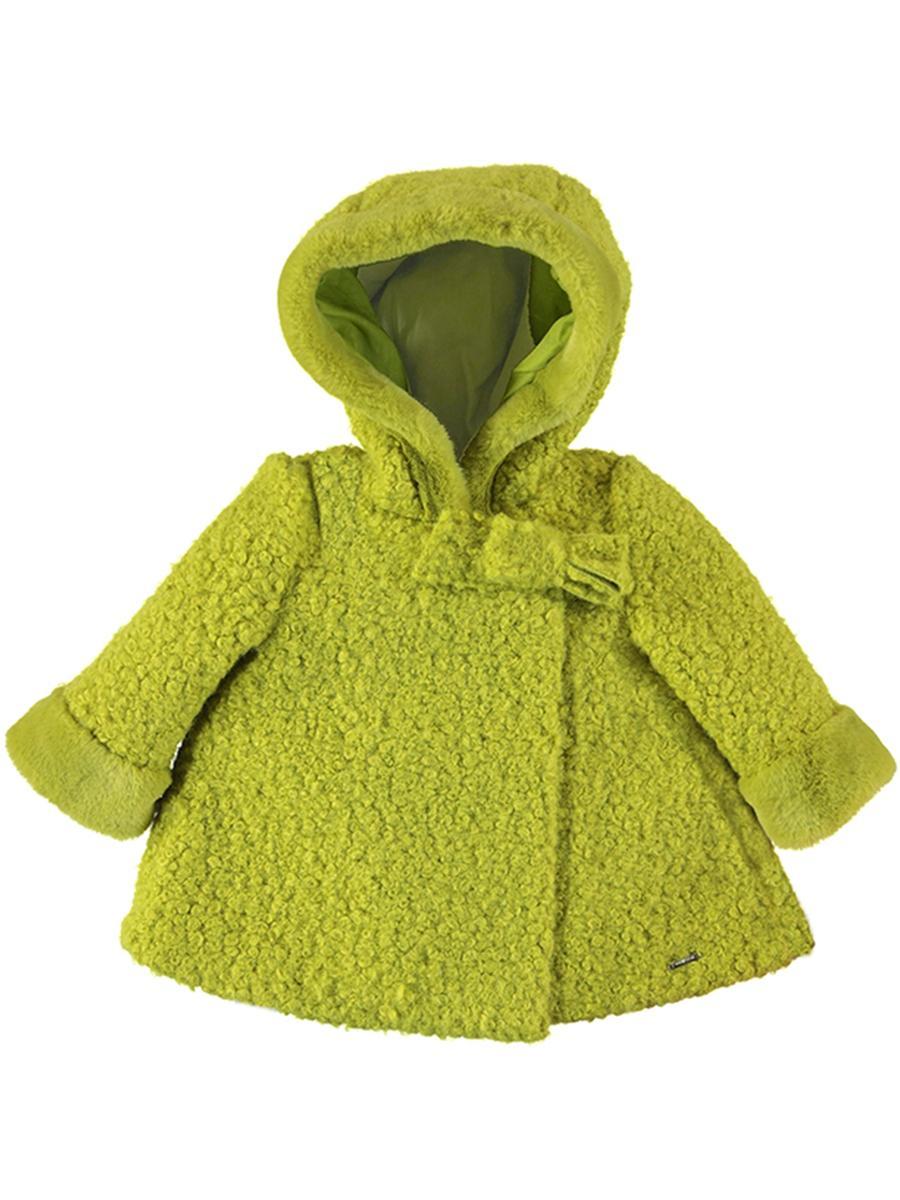 пальто mayoral для девочки, зеленое