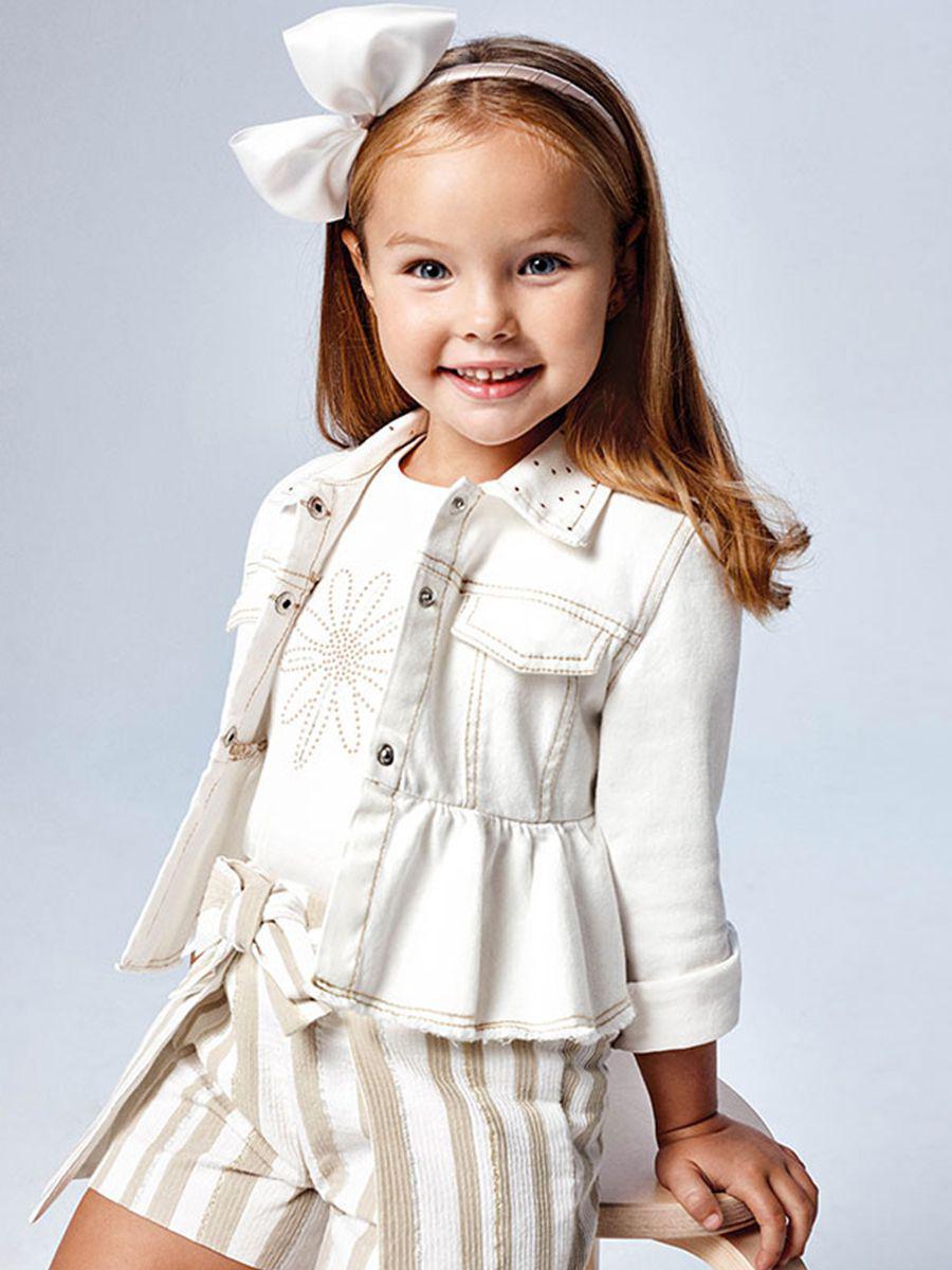 куртка mayoral для девочки, белая