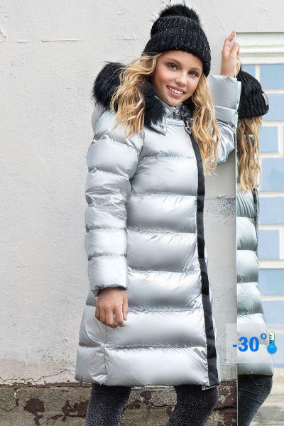 Купить Пальто, Noble People, Серый, Полиэстер-88%, Полиамид-12%, Женский