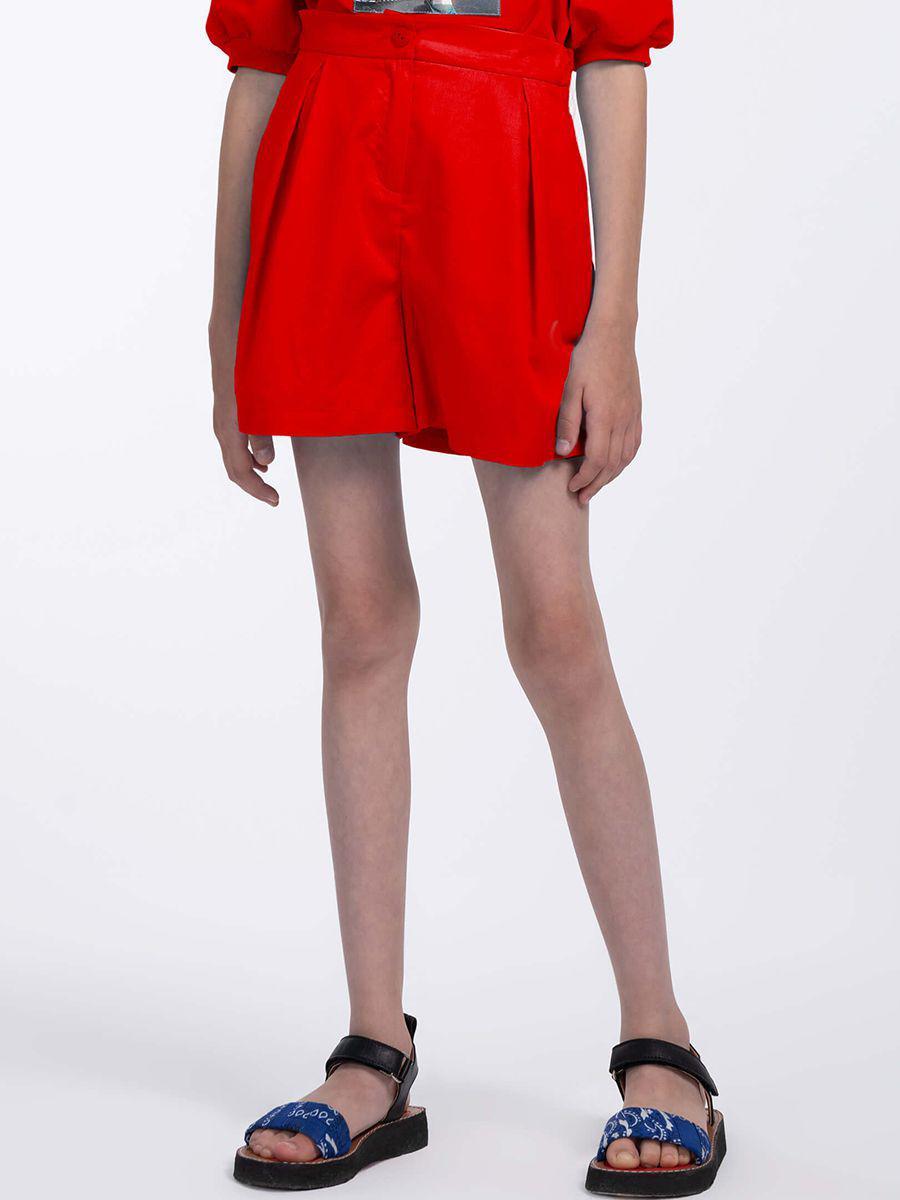 шорты смена для девочки, красные