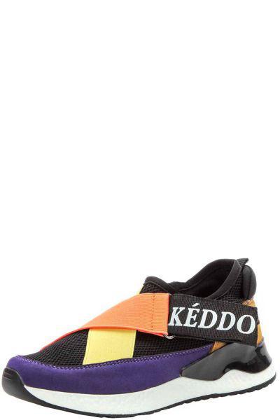 Купить Кроссовки, Keddo, Черный, Искусственный нубук+текстиль-100%, Женский