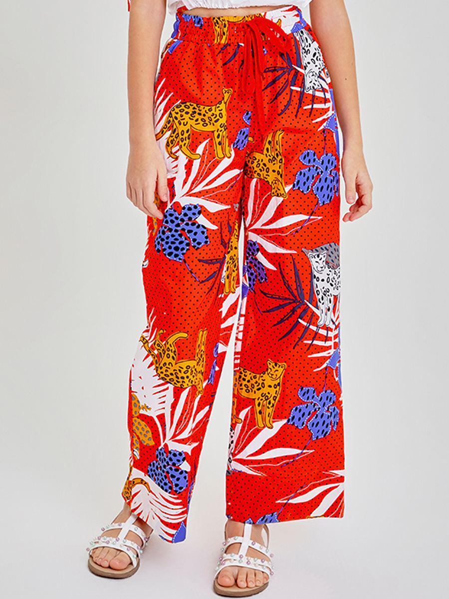 брюки to be too для девочки, красные