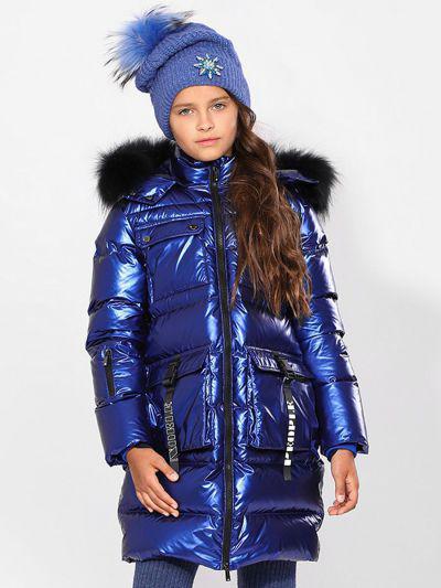 Пальто, Noble People, Синий, Нейлон-100%, Женский  - купить со скидкой