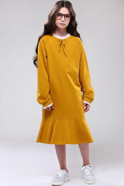 Купить Платье, Noble People, Желтый, Хлопок-100%, Женский