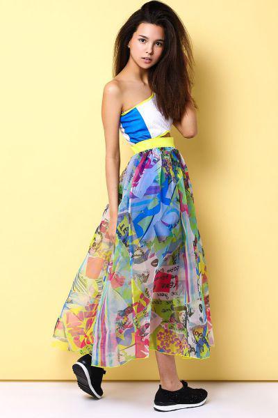 Купить Платье+шорты, Custo Barcelona, Разноцветный, Полиэстер-100%, Женский